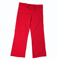 Red Scrub Pants, Cargo, Drawstring