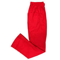 Red Scrub Pants, Elastic
