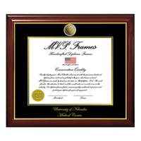 Diploma Frame, UNMC Medallion Coin