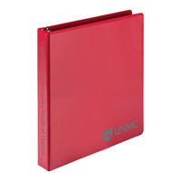 "Samsill 1"" View Red Binder"